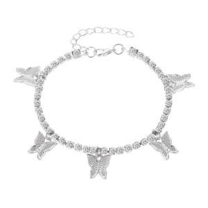 Simple Temperament Claw Chain Tassel Foot Decoration Fashion Beach Creative Rhinestone Butterfly Anklet
