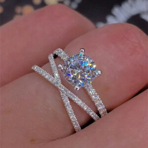 Double wound engagement ring