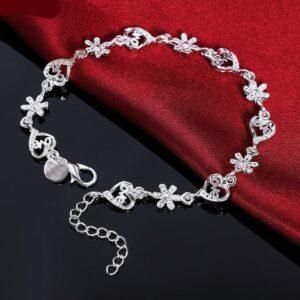 Silver Snowflake Love Girls And Ladies Bracelet