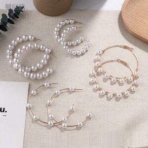E5478 fashion imitation pearl earrings