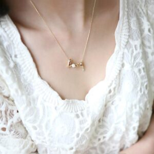 Love Letter Inlaid With Diamond Personality Versatile Neck Chain