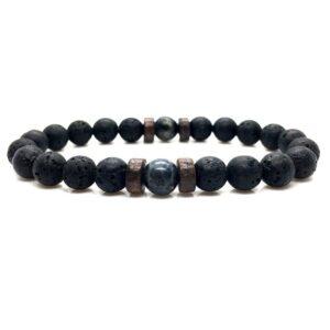 Black Volcanic Stone Bracelet