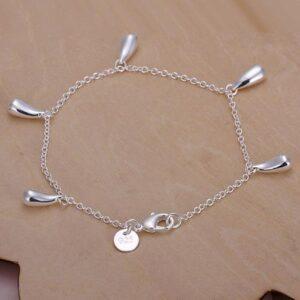 4-piece set of bracelet, necklace, earrings, ring