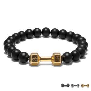 FIT LIFT Metal Dumbbell Beads Bracelet Jewelry