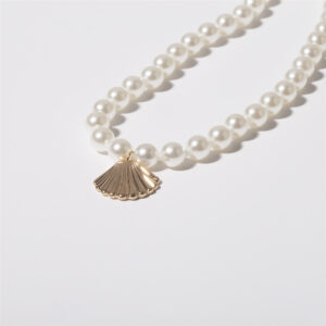 Personalized All-Match Women's Simple Pearl Scallop Necklace