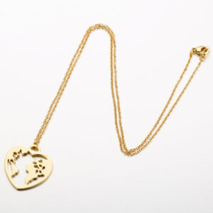 Necklace Love World Ladies Stainless Steel Clavicle Chain