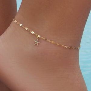 Alloy plating starfish anklet