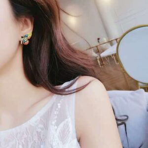 Colorful crystal butterfly earrings