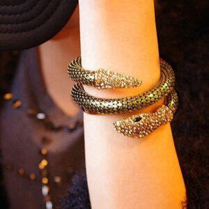 Creative Punk Full Diamond Multi-strand Snake Bracelet