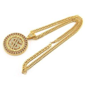 Hip Hop Diamond Dollar Pendant