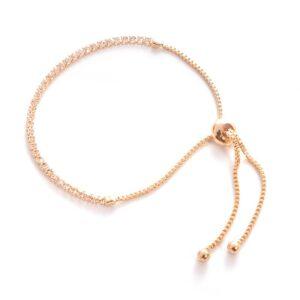 Diamond-Encrusted Crystal Push-Pull Bracelet