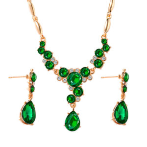 Crystal necklace earrings temperament jewelry set