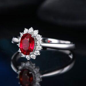 Colored Gemstone Princess Engagement Ring