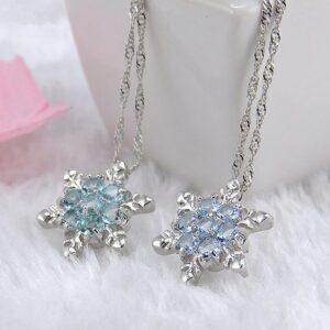 Children's Snowflake Crystal Pendant Necklace