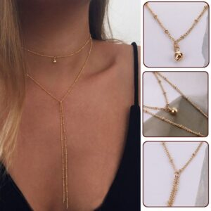 European And American Bead Chain And Clavicle Necklace
