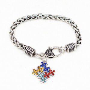 Diamond Fashion Puzzle Personality Bracelet