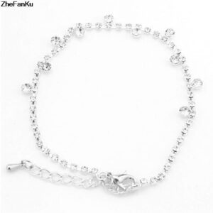 Small Diamond Anklet With Rhinestone Anklet