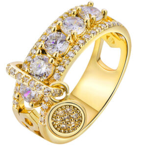 Female zircon hand jewelry ring
