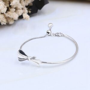 Gorgeous Bow Silver-Plated Silver Bracelet