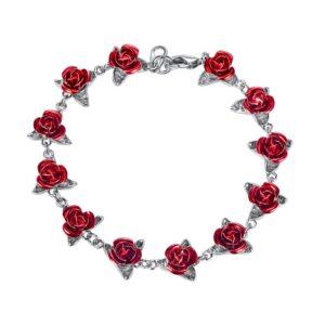 Fashion Rose Flower Bracelet
