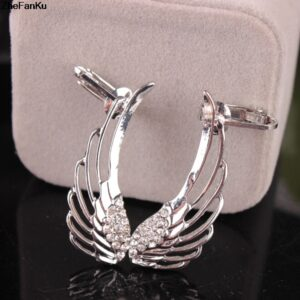 Fashion New Product Exaggerated Punk Personality Wings Single Ear Clip
