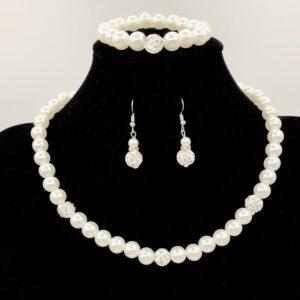 Necklace, bracelet, earring set