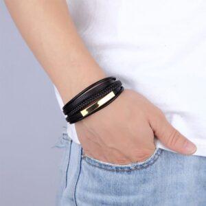 Luxury Hand-woven Leather Bracelet