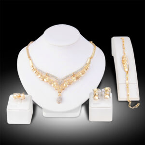 New European and American exaggerated jewelry sets, women's Bridal Jewelry four sets