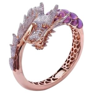 Europe and The United States Plated 18k Rose Gold Two-Tone Ring