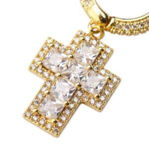 Cross full zircon earrings