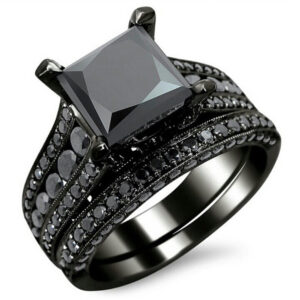 Black gold-plated vintage men's and women's ring ring