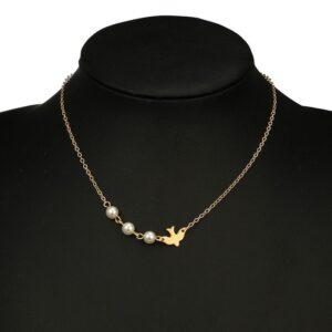 Peace Dove Pearl Necklace
