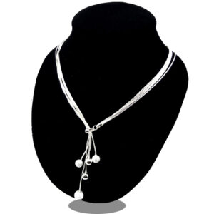 Alloy 5 bead necklace