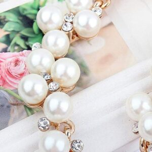 Elegant And Luxurious Pearl Rhinestone Clavicle Chain