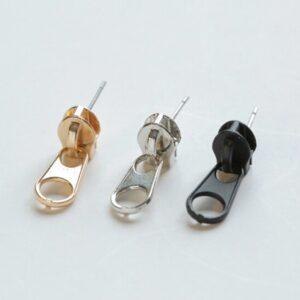 Creative fun zipper earrings