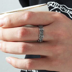 Bohemian Vintage Hollow Chains Rings For Women Charm Ring Party Wedding Fashion Jewelry Gifts