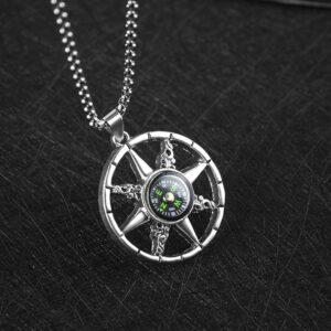 Compass Necklace Boys Hip Hop Pendant