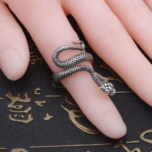 Retro Spirit Snake Ring Snake Punk Wind Animal Geometric Ring