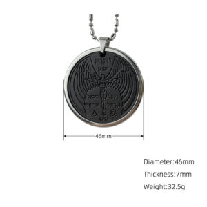 Round Trapeze Cotton Rope Pendant Volcanic Stone Boxed Necklace All-match Jewelry