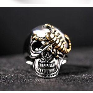 Punk personality tweezers tweezers ring titanium steel casting alternative ring exaggeration hand jewelry