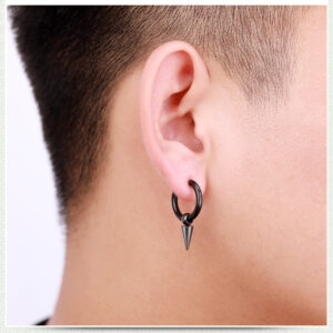 Stainless Steel Tassel Earrings Titanium Steel Single Point Stud Earrings Men