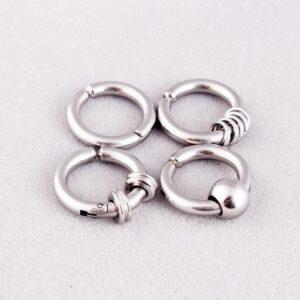 Titanium Steel Male Non Pierced Earring Ear Clip Magnet False Earrings