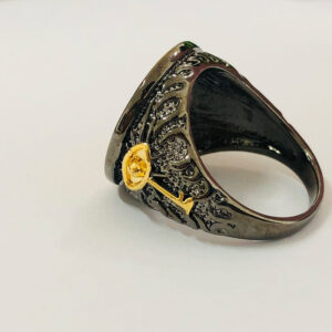 Gold-plated two-tone ring domineering creative Chinese dragon