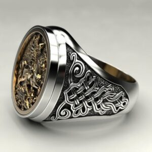 Men's Domineering Knight Silver Plated Finger Ring Day Gift