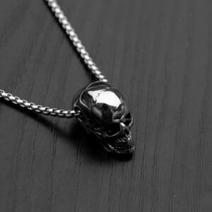 European And American Fashion Titanium Steel Skull Men's Necklace