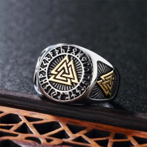 Fashion Mysterious Triangle Men's Titanium Steel Ring