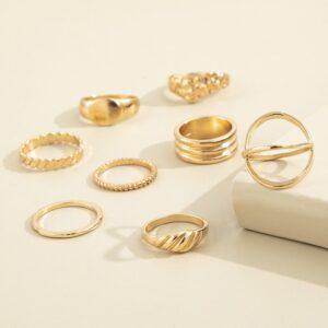 Eight-Piece Metal Joint Ring Temperament Set